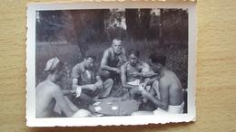 ISTRIA CROAZIA FOTO CON MILITARI RADIO TELEGRAFISTI CHE GIOCANO A CARTE POLA 1939 - Photographs