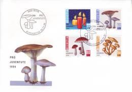Svizzera 1994 - FDC Pro Iuventute, Natale E Funghi - FDC