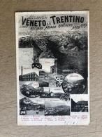 ATTRAVERSO IL VENETO E IL TRENTINO SCHIO RECOARO ASIAGO ROVERETO ARCO RIVA VICENZA  1917 - Italia