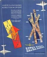 PIE.GF.T.19-339 :  PUBLICITE POUR  RUTNA KARTA . BEOGRAD ZAGREB. - Advertisements
