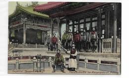 CARD CINA  PEKING IMPERIAL THEATRE OCCUPAZIONE TEDESCA LEGGERA PIEGA ININFLUENTE IN BASSO 2 SCAN-FP-V-2-0882-29169-170 - China