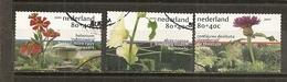 Pays-Bas Netherlands 2001 Fleurs Flowers (autre/special Perforation!) Set Complete Obl - Unused Stamps
