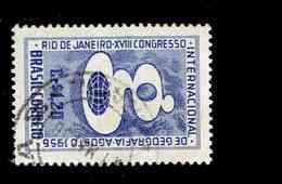 BRESIL.(Y&T) . 1956 - N°616   *18è Congrès Internbationale De Géographie à Rio De Janeiro*     1,20cr. Obl. - Brésil