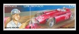 Monaco 2019 Mih. 3429/30 Legendary Formula 1 Driver Alberto Ascari. Racing Car Ferrari MNH ** - Neufs