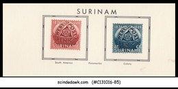 SURINAME - 1949 75th Anniversary Of UPU - 2V - MINT HINGED - Surinam