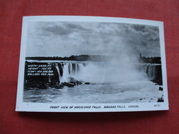 RPPC--      Front View  Of Horseshoe Falls     Canada > Ontario >  Niagara Falls---ref    3573 - Ontario