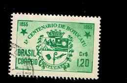 BRESIL.(Y&T) . 1955 - N°604   *Centenaire De La Ville De Botucatu*     1,20cr.    Obl. - Brésil
