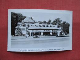 RPPC--     Park Restaurant   Overlooking  Horseshoe Falls     Canada > Ontario >  Niagara Falls---ref    3573 - Ontario