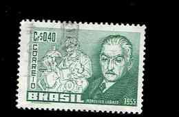 BRESIL.(Y&T) . 1955 - N°612   *Centenaire De La Naissance De Monteiro Lobato*     40c.    Obl. - Brésil