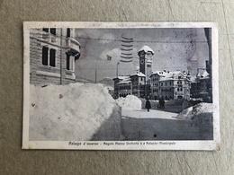 ASIAGO D'INVERNO ANGOLO PIAZZA UMBERTO I E PALAZZO MUNICIPALE  1932 - Vicenza