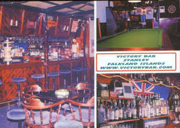 Falkland Islands - Postcard Unused  - Victory Bar Stanley-Interior View Of Victory Bar Flaklands Islands 2003 - 2/scans - Falkland Islands