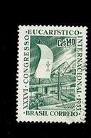 BRESIL.(Y&T) . 1955 - N°607   *Hall Du Congrès*     1cr40.    Obl. - Brésil
