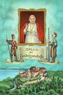 SALUTI DA CASTELGANDOLFO-NON  VIAGGIATA   F.G - Italia