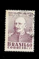 BRESIL.(Y&T) . 1955 - N°606   *Centenaire De La Naissance Du Maréchal Hermes De Franseca*     60c.    Obl. - Brésil