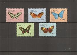 Papillons ( PA 283/287 XXX -MNH De Bolivie ) - Farfalle