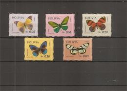 Papillons ( 488/492 XXX -MNH De Bolivie ) - Farfalle