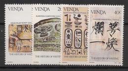 Venda - 1983 - N°Yv. 74 à 77 - History Of Writing - Neuf Luxe ** / MNH / Postfrisch - Venda