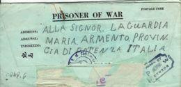 BIGLIETTO PRIGIONIERI USA POW CAMP 101 ORANO ALGERIA 1943 ARMENTO + CARTOLINA - 1900-44 Vittorio Emanuele III