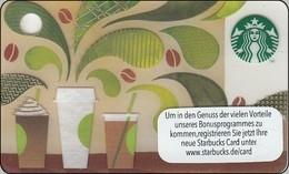 "Germany  Starbucks Card ""How To Make Coffee"" Mini 2014-6118 - Gift Cards"