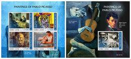 SIERRA LEONE 2019 - Pablo Picasso. M/S + S/S Official Issue [SL190704] - Non Classés