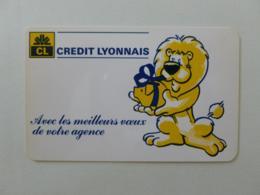 BANQUE / CREDIT LYONNAIS - Lion Avec Cochon Tirelire - Calendrier Poche 1984 - Calendriers