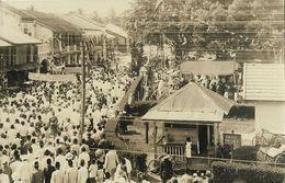 Indonesia, SUMATRA, Unknown Gathering, Police Post (1910s) Kurihara Kisaran RPPC - Indonesië