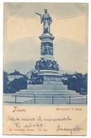 TRENTO ITALY - MONUMENTO A DANTE ALIGHIERI, Year 1899 - Trento