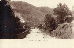 Indonesia, SUMATRA SAWAHLUNTO, River Scene (1910s) RPPC Postcard - Indonesië