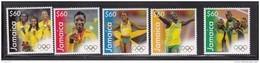 "2013 Jamaica Olympic Winners ""Bolt"" Complete Set Of 5 MNH - Jamaica (1962-...)"