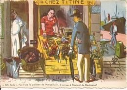 Humour. CPA. La Poissonnière. Chez Titine (dessins D'Albert Place, Légendes De Max Viere) - Humour