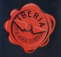 España *Iberia* Etiqueta Diámetro Max. 104 Mms. Nueva Con Cola Original. - Baggage Labels & Tags