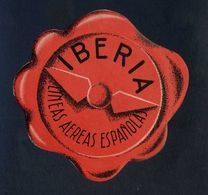 España *Iberia* Etiqueta Diámetro Max. 104 Mms. Nueva Con Cola Original. - Etiquetas De Equipaje