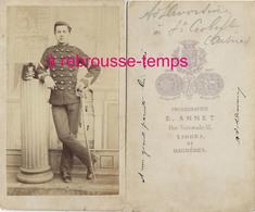 CDV Vers 1870-identifié Au Dos-soldat Du 14e R  Photo Annet à Tarbes Et Bagnères - Guerre, Militaire
