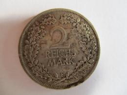 Allemagne 2 Reichmark 1925 F - [ 3] 1918-1933 : Weimar Republic