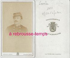 CDV 1875--officier D'artillerie 20e R-photo Montalbanaise - Guerre, Militaire