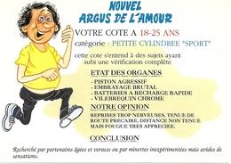 Humour. CPM. Argus De L'Amour. Votre Côte à 18-25 Ans, Catégorie Petite Cylindrée Sport - Humour