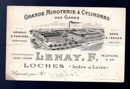 Grande Minoterie à Cylindres Lenay F Loches Indre Et Loire (pli Central Marqué) - Publicités