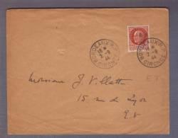 Lettre Aff Pétain 1f50  Surch R.F. - Obl. Bordeaux R.P. 02.09.1944 -> E.V. - Rabat Non Collé !! - Marcophilie (Lettres)