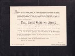 GRAZ AUTRICHE Franz Emerich Grafen Von LAMBERG  1901, 70 Ans Prinzessin Von SCHWARZENBERG Grafin Van MERAN A4 - Décès