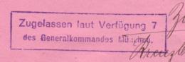 Bande De Journal   Obl. München   -> Zensur/Censored/Censure Munich - Pas Courant- - Allemagne