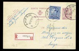 CP 130 I Recommandée + 847A Ampsin 1512 51 => Liège - Entiers Postaux