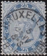 Belgie  .   OBP   .     40      .        O   .       Gebruikt    .   /  .      Oblitéré - 1883 Leopold II