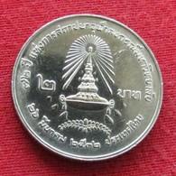 Thailand 2 Baht 1989 / 2532 Y# 225 Lt 197  Tailandia Thailande - Thaïlande