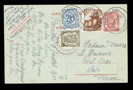 CP 132 I + 420 + 767 + 841 Bouillon ( Touristique ) 9 7 51 => Port-Cros ( Var ) France - Postwaardestukken