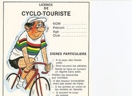 Humour. CPM. Licence. Licence De Cyclo-Touriste - Humour