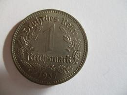 Germany : 1 Reichmark 1937 A - [ 3] 1918-1933 : Weimar Republic