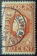 NETHERLANDS 1913 - Canceled - Sc# 95 - 20c - Usati