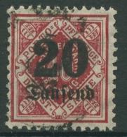 Württemberg Dienstmarken 1923 Mit Aufdruck 174 Gestempelt - Wuerttemberg