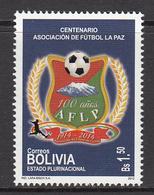 2013 Bolivia Football La Paz  Complete Set Of 1  MNH - Bolivien