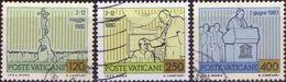VATICANO 1981 - VIAGGI NEL MONDO DI GIOVANNI PAOLO II - 3 VALORI USATI - Vatican